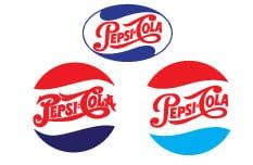 Pepsi Cola Vintage Logo.