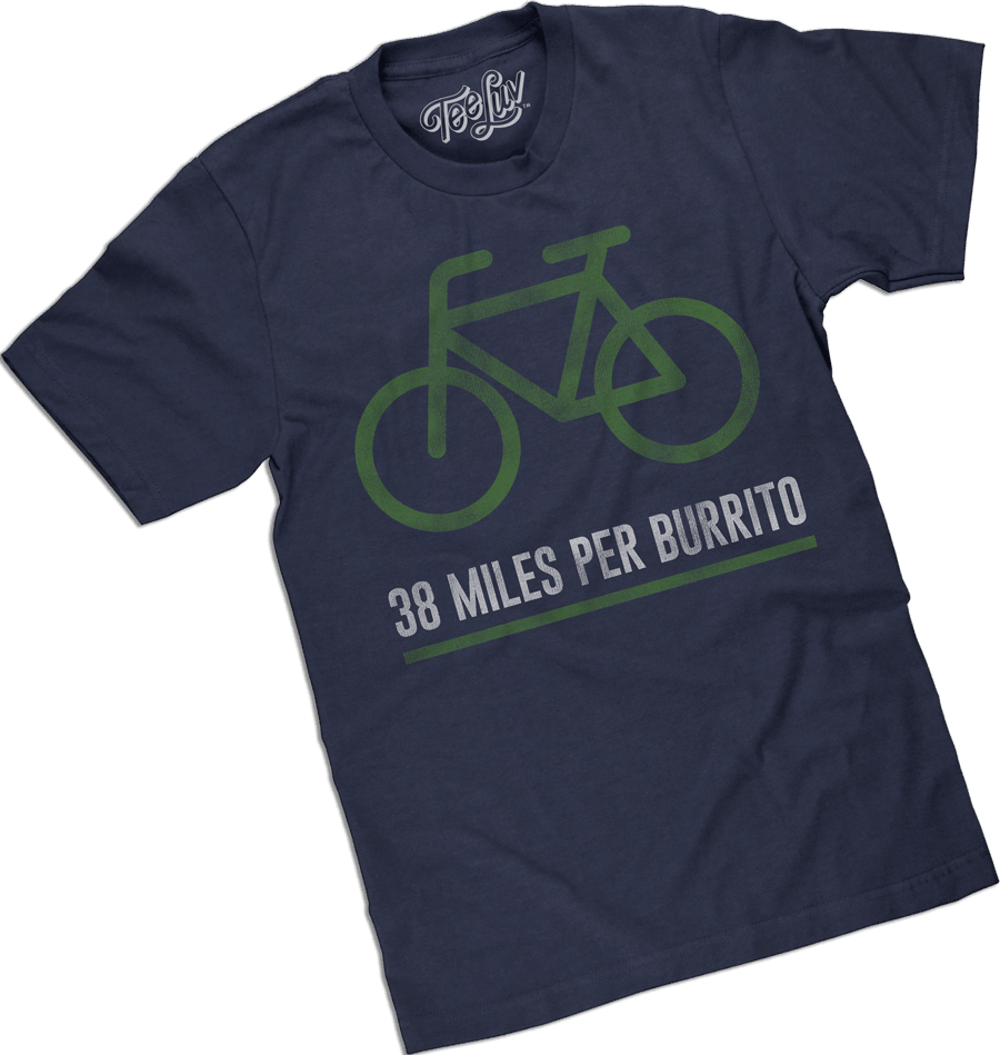 bicycle burrito tee shirt
