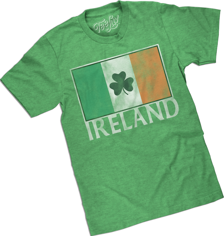 Ireland flag tee shirt